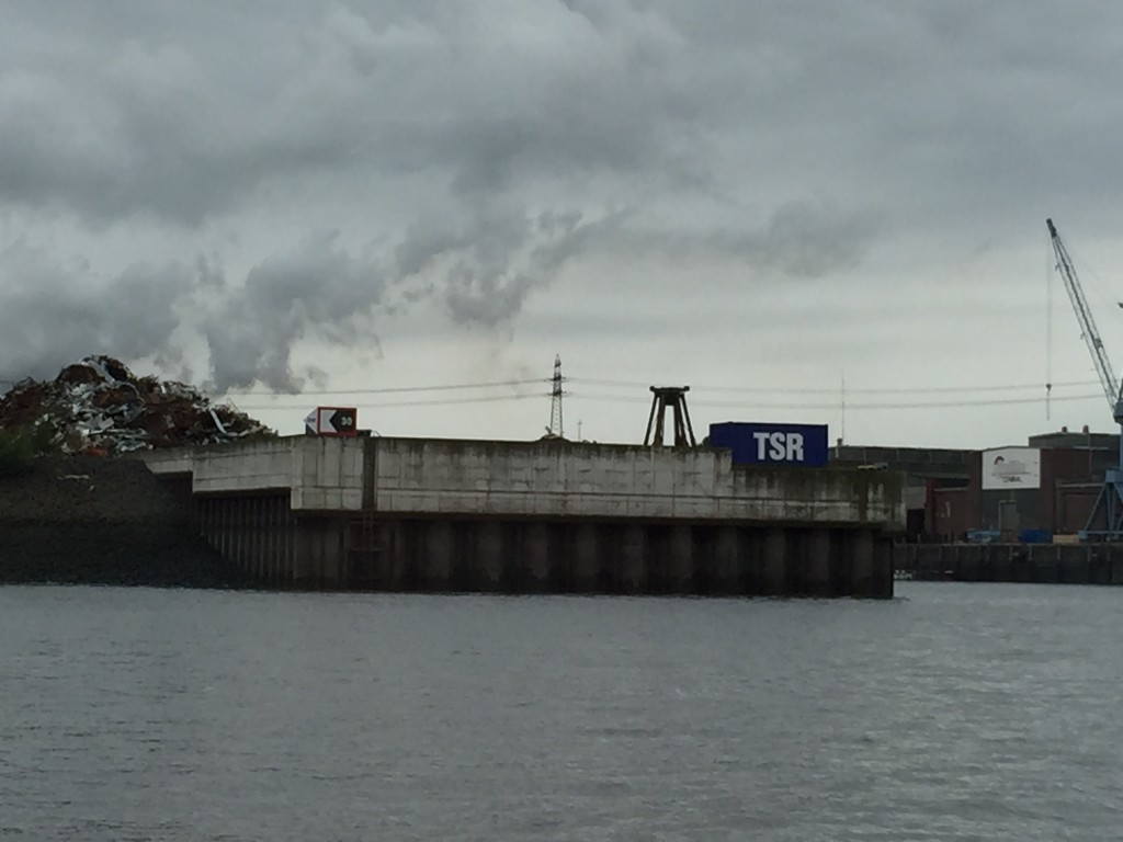 TSR's scrap berth in Hamburg