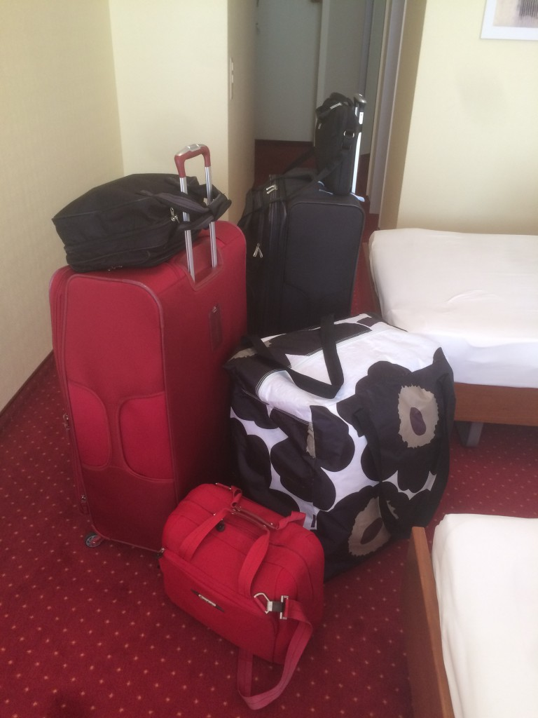 We are not traveling light !