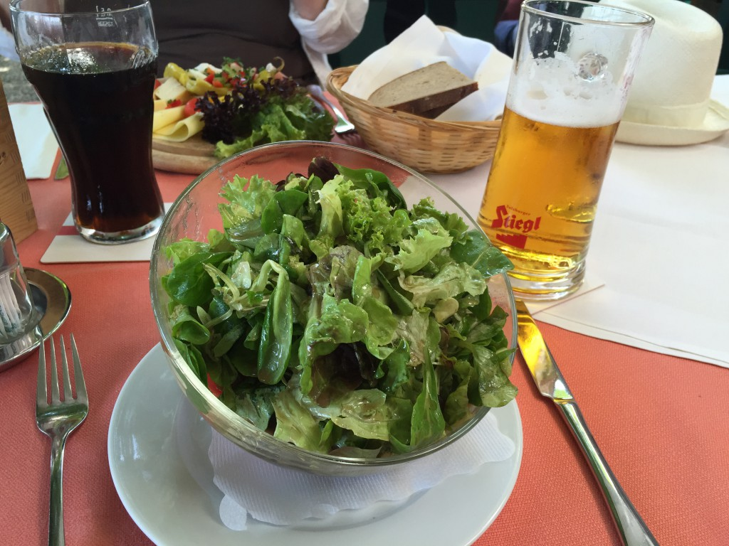 Mixed salad at Stiegkeller