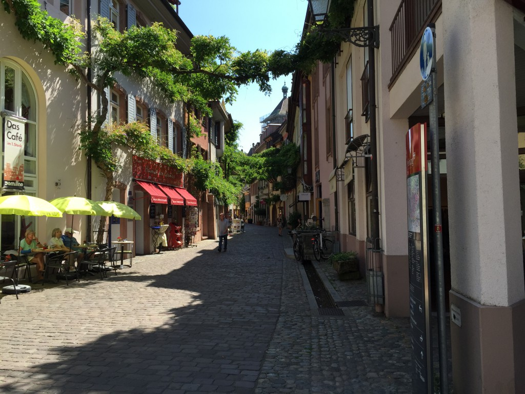 This is what we first saw in Freiburg city center