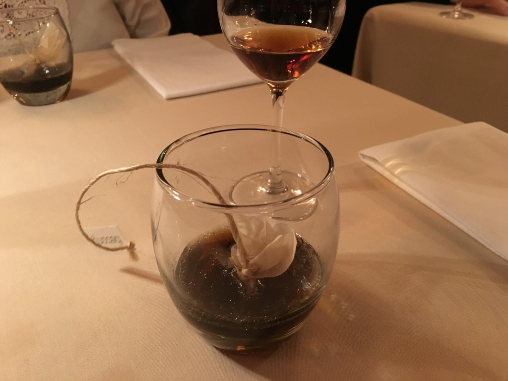 Black Truffle Tea and Lustau, 'Los Arcos', Amontillado, Jerez, Spain