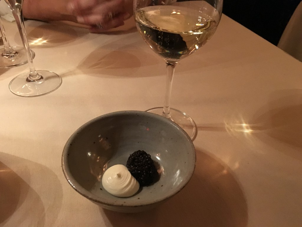At midnight we got champagne and later as we asked, we got caviar