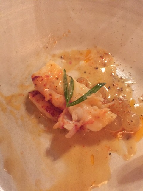Poached lobster, Tarragon, Tapioca and a glass of Stadlmann, 'Anninger' Rotgipfler, Thermenregion, Austria 2014